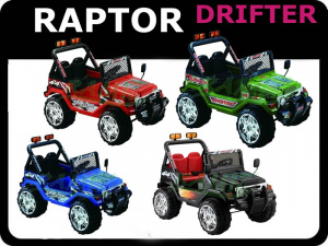 AUTO na AKUMULATOR JEEP RAPTOR DRIFTER STRONG 2x45W+ TABLICE