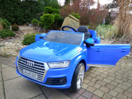 AUTO BATTERY AUDI Q7 2x45W LICENSE + SOFT WHEELS EVA + SMART REMOTE CONTROL 2.4 Ghz + leather CHAIR LEAN