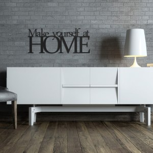 Napis na ścianę MAKE YOURSELF AT HOME czarny MYAH1-1