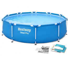 Basen Stelażowy 488 cm x 122 cm, Power Steel Swim VISTA series BESTWAY