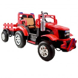 MEGA TRACTOR LARGE WITH TRAILER, INFLATED WHEELS, REMOTE CONTROL, ROCKING FUNCTION/SH6688