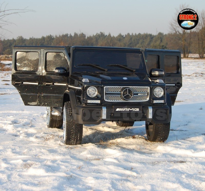 MERCEDES G65 AMG TWO MOTORS, DOOR OPEN, STRONG SOFT WHEELS, BLACK/G65 LACQUER