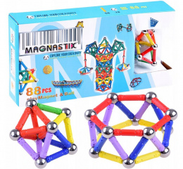 Magnetic blocks Magnastix 88 elements ZA0581
