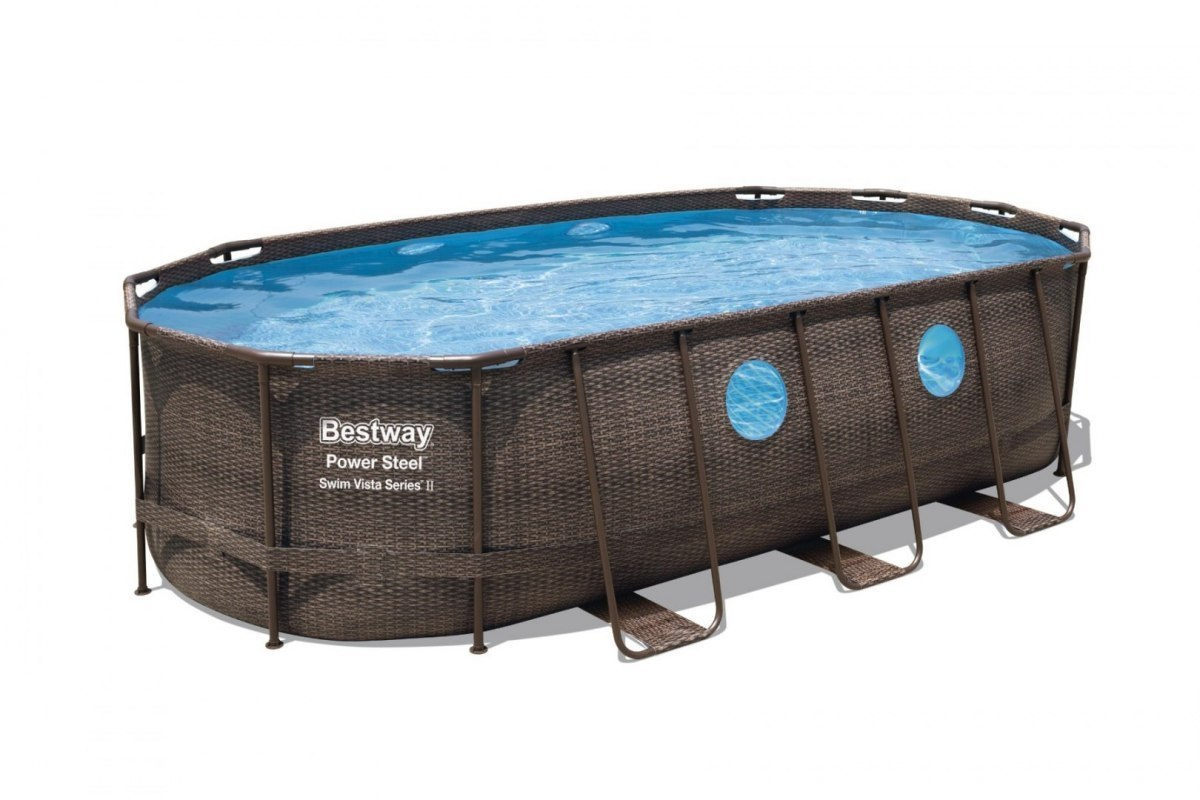 Basen Stelażowy 549 cm x 274 cm x 122 cm, Power Steel Swim VISTA series BESTWAY