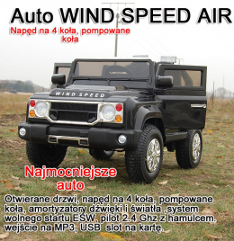 MEGA JEEP WIND SPEED NAPĘD NA 4 KOŁA SUPER MOC/806