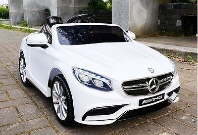 AUTO BATTERY MERCEDES S63 AMG LICENSE, SOFT WHEELS EVA FULL OPTION/HL169 battery Vehicles for children