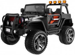 DWUOSOBOWE AUTO NA AKUMULATOR JEEP 4x4 JEEP Monster JEEP MONSTER OF-ROAD z reduktorem napędu 2x2 4x4x PLECAK GRATIS