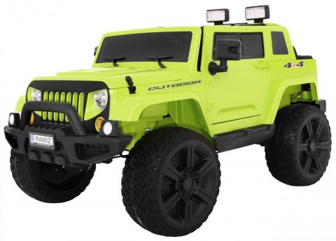 Pojazd Mighty Jeep 4x4 Zielony