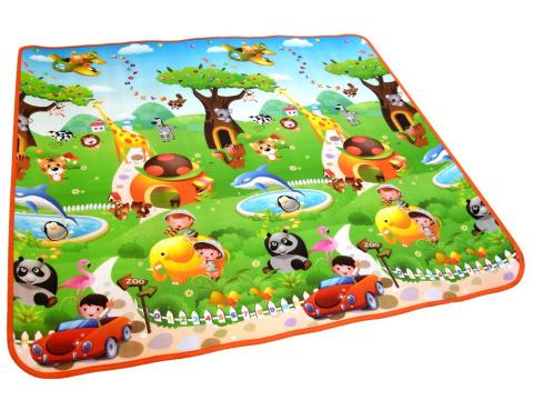 Kolorowy Dywan Mata Edukacyjna 180 X 200 Zabawka Dla Dziecka Za2503